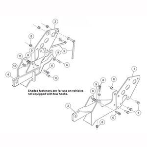fisher snow plow mount kit mm 2 gm 2500hd  3500