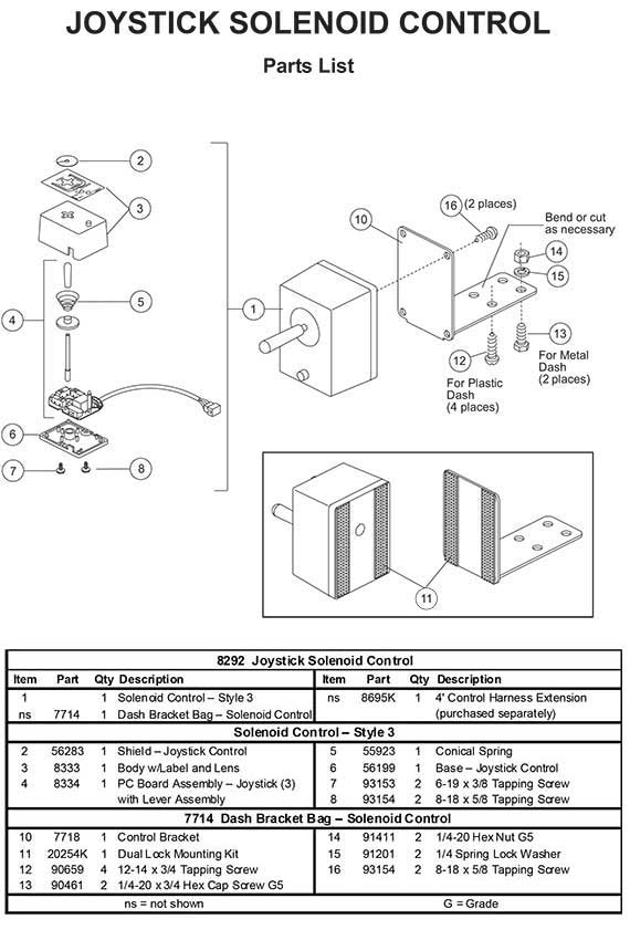 roto mix wiring diagram for joystick 6 pin wiring diagram for joystick 8292 fisher control joystick for straight blade (6-pin) #3