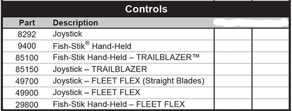 FISHER PLOW CONTROLLERS LIST
