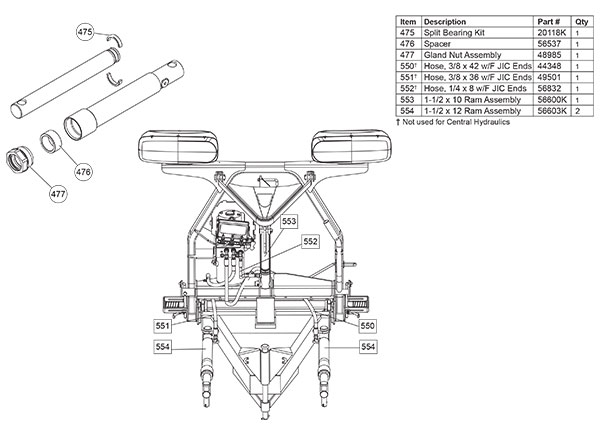 FISHER SNOW PLOW STRAIGHT BLADE HYDRAULIC CYLINDER DIAGRAM1