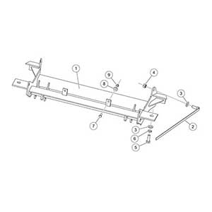 1523 Fisher Homesteader Snow Plow Mount Kit