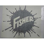FISHER DECAL 13-1/4 X 14-1/2 20238
