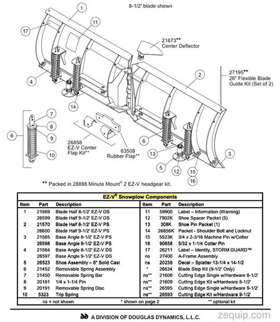 FISHER EZ-V SNOW PLOW DIAGRAM
