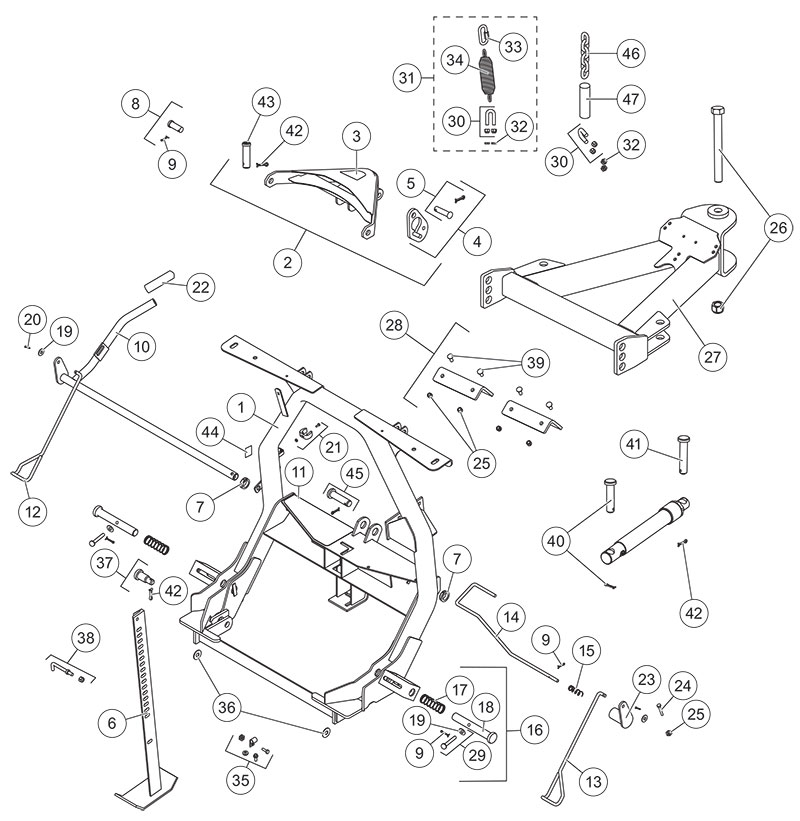 Fisher XLS A-Frame Diagram