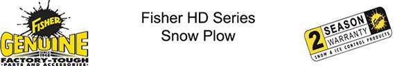 Fisher HD Series Snow Plow