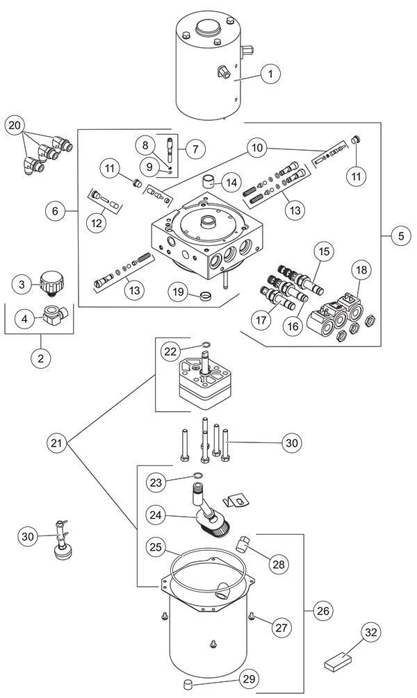 Fisher HD2 And HDX Hydraulic Unit Diagram