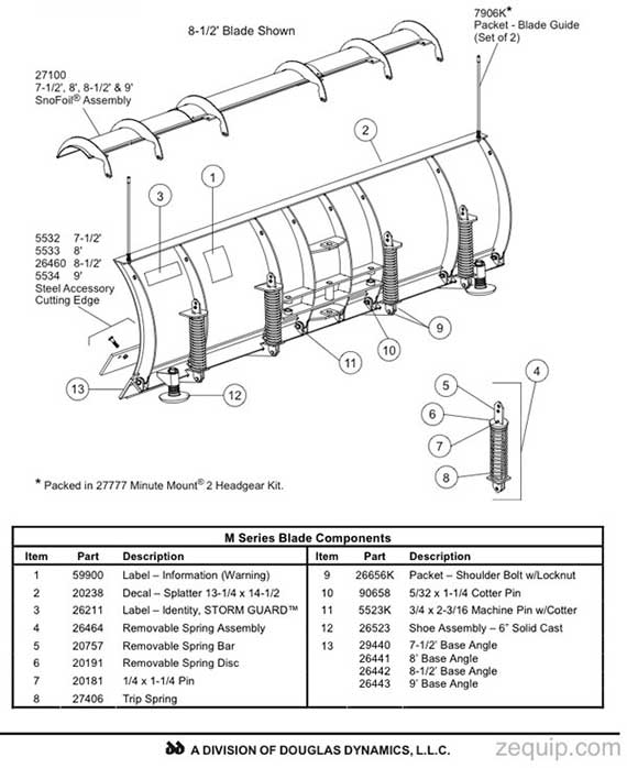 FISHER HD SERIES SNOW PLOW PARTS DIAGRAM
