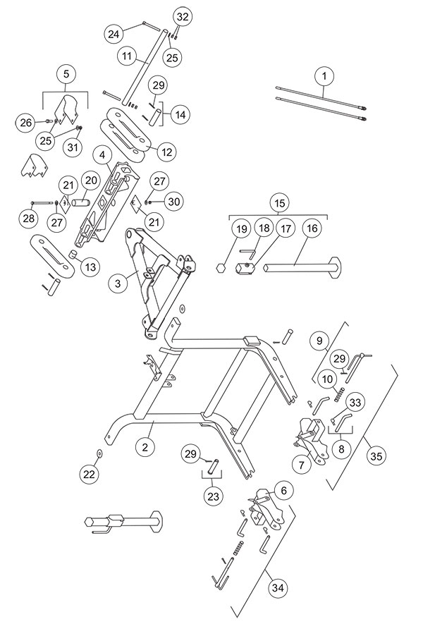 Fisher Homesteader Headgear Assembly Diagram