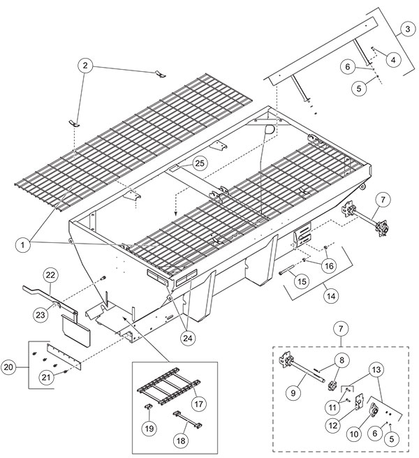 Fisher Steel-Caster Hopper Assembly Parts Diagram