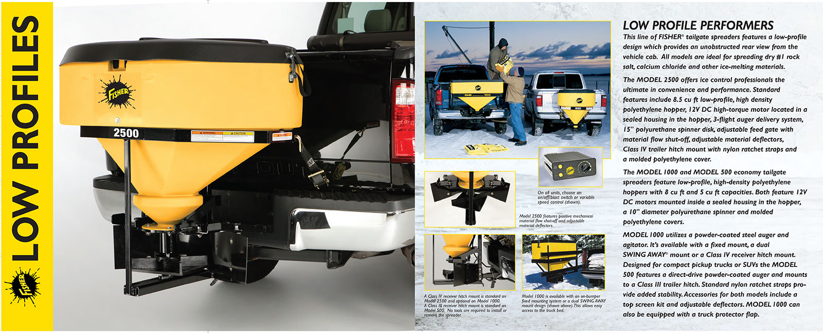 FISHER LOW PROFILE TAILGATE SALT SPREADER INFORMATION