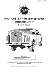 FISHER POLY-CASTER 2 OWNERS MANUAL