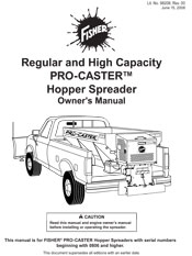 FISHER PRO-CASTER OWNERS MANUAL