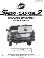 FISHER SPEED-CASTER 2 MANUAL