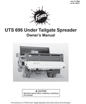 FISHER UTS OWNER MANUAL