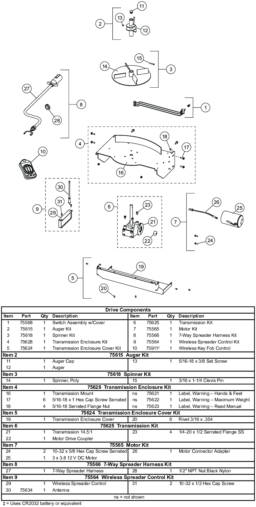 Fisher Quick Caster 300W Drive Parts Diagram