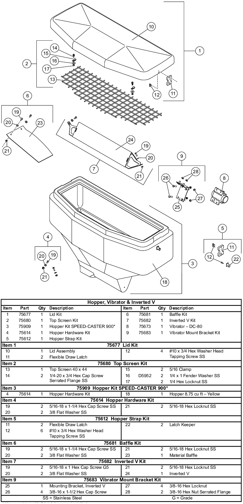 Fisher Poly Caster Wiring Diagram Library Ez V Speed 900 Hopper Vibrator Inverted Parts