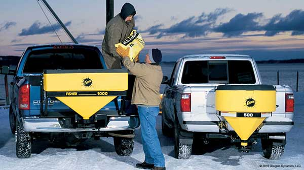 FISHER LOW PROFILE SALT SPREADERS