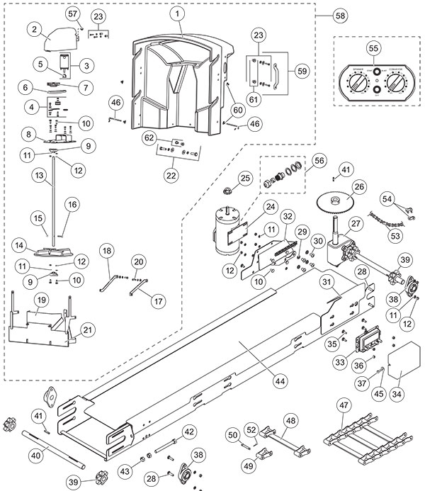 FISHER POLY-CASTER GENERATION 2 DRIVE COMPONENTS PARTS DIAGRAM UPDATED