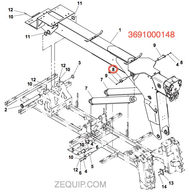 3691000148 pin weld wrecker boom lift cyl (p jerr dan light bar wiring diagram at soozxer.org