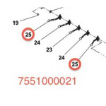 JERR-DAN HANDLE CONTROL 2.20in OFFSET 7551000021
