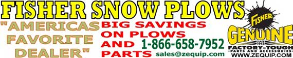 BEST PRICE ON FISHER SNOW PLOWS AT ZEQUIP.COM