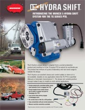 MUNCIE POWER PRODUCTS HYDRASHIFT INFORMATION BROCHURE
