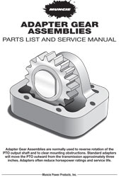 MUNCIE-GEAR-ADAPTERS PRODUCT INFORMATION