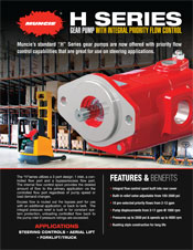Muncie H Series Pump PRODUCT INFORMATION BROCHURE