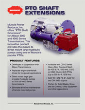 PTO-SHAFT-EXTENSION PRODUCT INFORMATION BROCHURE