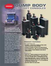 MUNCIE AIR SHIFT CONSOLE BROCHURE