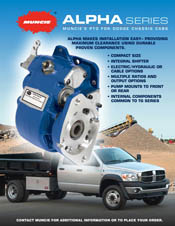 Muncie ALPHA Series POWER TAKE OFF INFORMATION BROCHURE