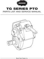 MUNCIE TG SERIES PARTS LIST AND SERVICE MANUAL