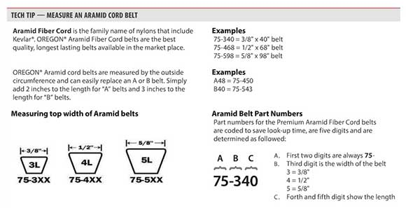 Drive Belt Measurement Guide