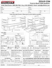 PULLTARPS Bow Order form