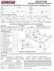 Pulltarps Arm Order Form Auto