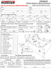 Pulltarps Electric Order Form