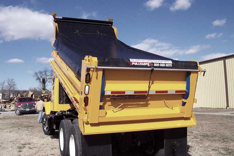 pullstarps dump bed tarp system