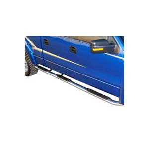 99-16 F250/F350 SUPER DUTY CREW CAB(6FT BED) PLATINUM 4IN OVAL W2W STEP BAR POLISHED