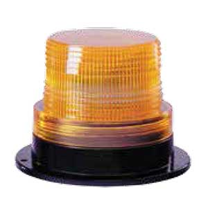 2000 Series Mini Strobe Beacon, Self-Contained, Single Flash, 5 Watt, Magnetic Mount w/ Cigar Plug - Amber