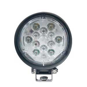 500 Lumen PAR 36 LED Work Light w/ U-bracket Flood Lens 10-50v - White