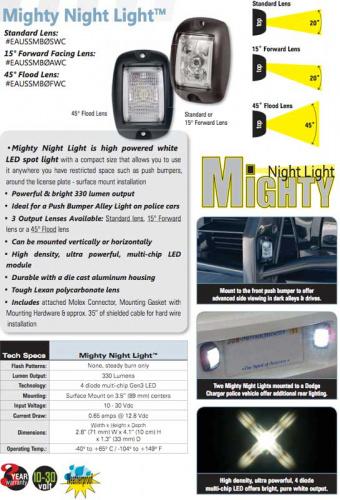 Soundoff Signal Mighty Night Light Spot Light EAUSSMB0AWC