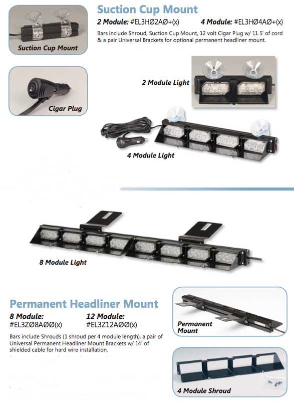 Soundoff Signal UltraLITE 2 Module Windshield Light