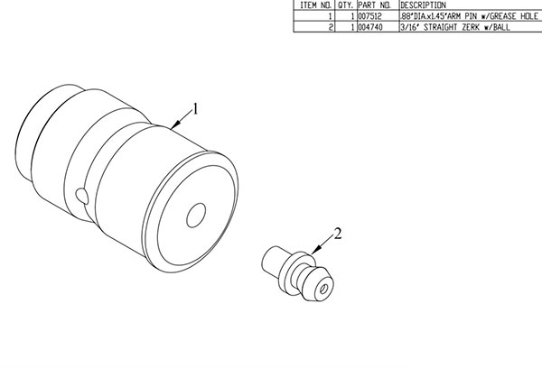 007547 Arm Pin