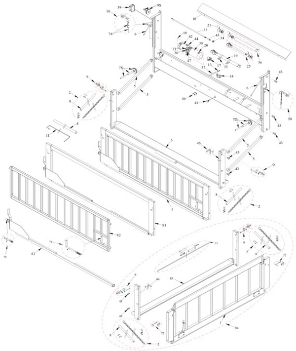 Tommy Gate Parts Diagram 1046-1648LD