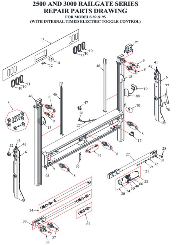 Tommy Gate Parts Diagram