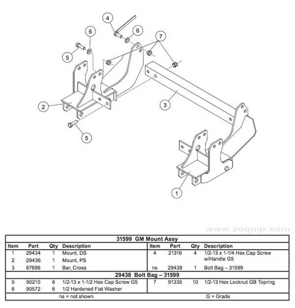 31599 Western Mount kit Diagram