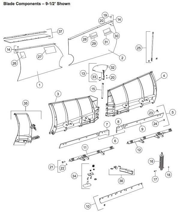 Western MPV3 Blade Parts Diagram