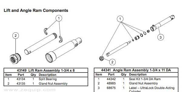 Western MPV3 Hydraulic Cylinder Diagram