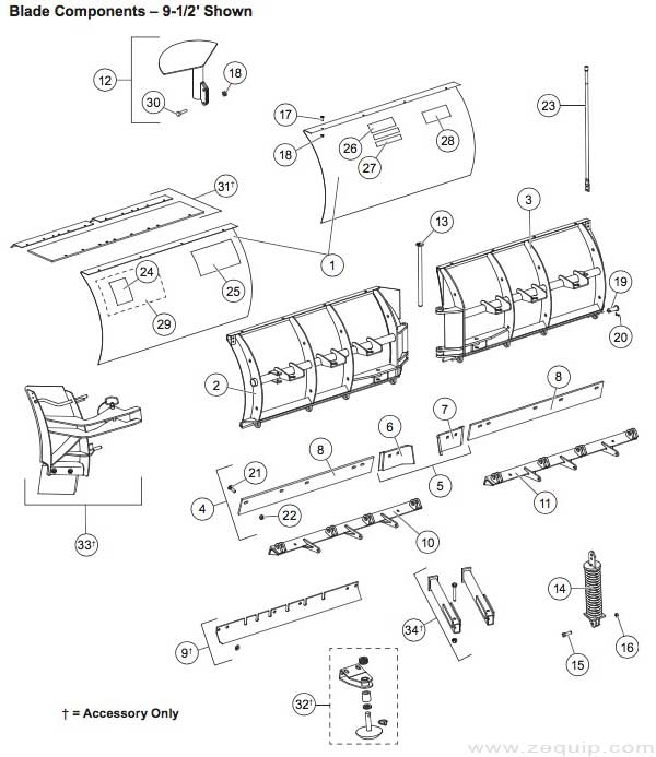 western plow parts diagram