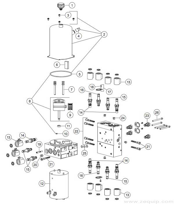 Western MVP Plus Hydraulic Parts Diagram
